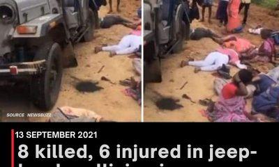 8 killed, 6 injured in jeep-truck collision in Karnataka's Chikkaballapur