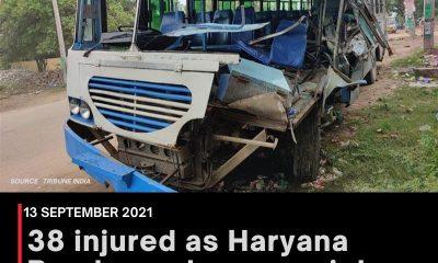 38 injured as Haryana Roadways bus rams into truck in Punjab