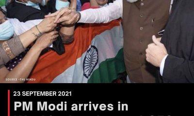 PM Modi arrives in Washington, to meet CEOs of five companies