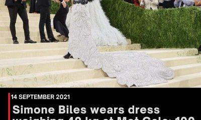 Simone Biles wears dress weighing 40 kg at Met Gala; 100 people made it in 6,650 hours