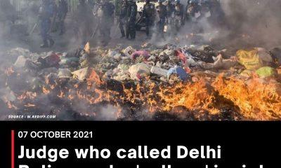 Judge who called Delhi Police probe 'callous' in riots cases transferred