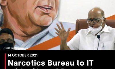 Narcotics Bureau to IT raids, Sharad Pawar slams Govt 'misuse' of agencies