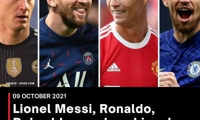 Lionel Messi, Ronaldo, Robert Lewandowski and Jorginho among 30 nominees